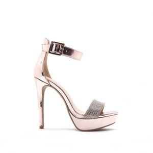 Qupid Rosa pink metallic sandal